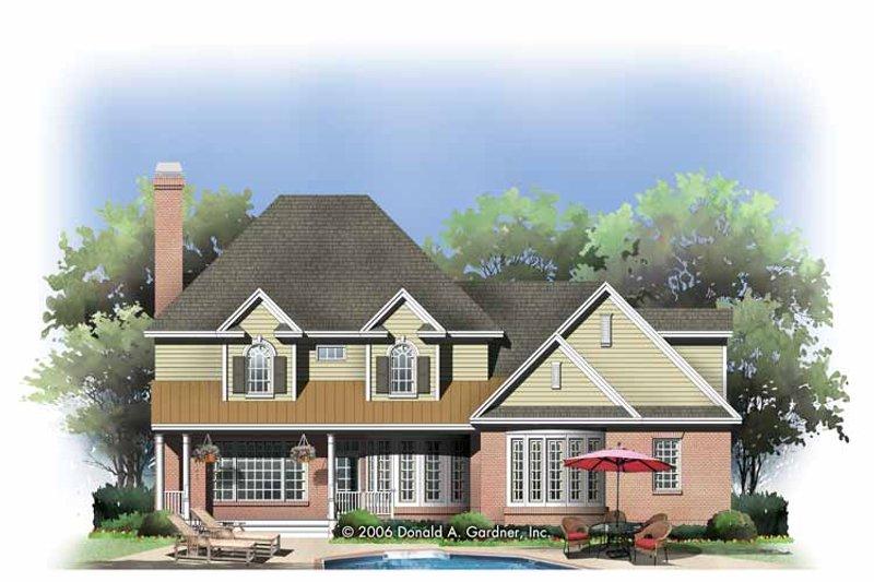 Traditional Exterior - Rear Elevation Plan #929-801 - Houseplans.com