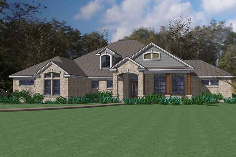 Traditional Exterior - Front Elevation Plan #120-232 - Houseplans.com