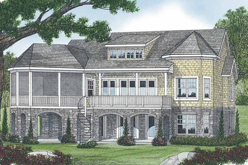 Craftsman Exterior - Rear Elevation Plan #453-566 - Houseplans.com