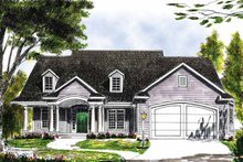Country Exterior - Front Elevation Plan #70-1343