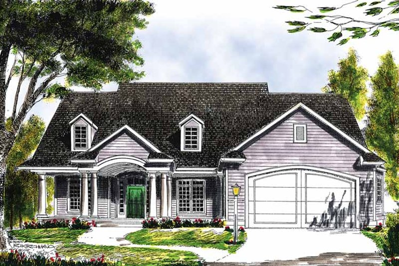 Dream House Plan - Country Exterior - Front Elevation Plan #70-1343