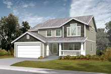 Home Plan - Craftsman Exterior - Front Elevation Plan #569-17