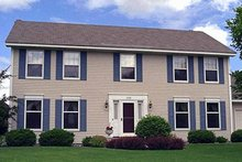 House Plan Design - Colonial Exterior - Front Elevation Plan #51-864