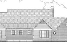 Dream House Plan - Southern Exterior - Rear Elevation Plan #406-171