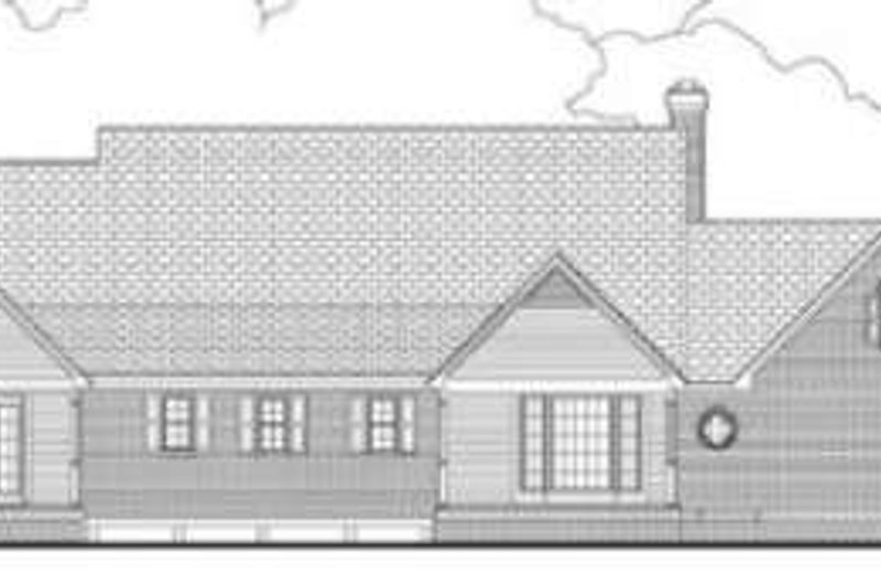 Southern Exterior - Rear Elevation Plan #406-171 - Houseplans.com
