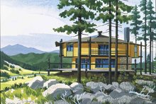 Architectural House Design - Contemporary Exterior - Front Elevation Plan #320-1508