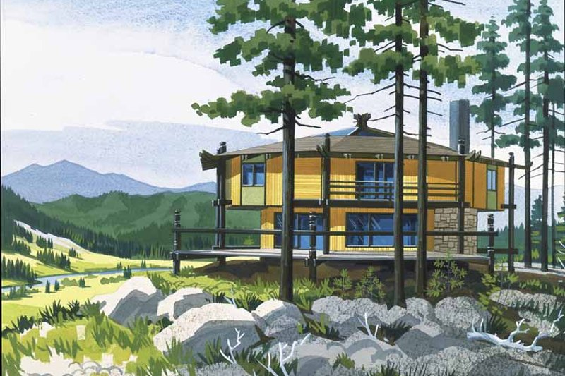 House Plan Design - Contemporary Exterior - Front Elevation Plan #320-1508