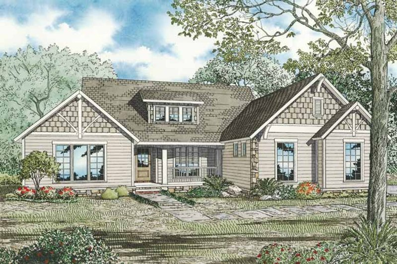 Country Exterior - Front Elevation Plan #17-3290 - Houseplans.com