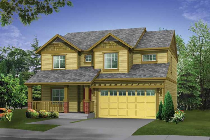 Architectural House Design - Craftsman Exterior - Front Elevation Plan #569-21