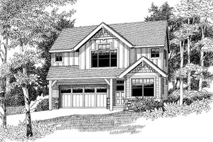House Plan Design - Country Exterior - Front Elevation Plan #53-580