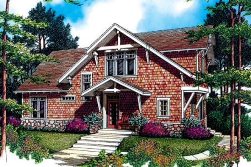 Craftsman Exterior - Front Elevation Plan #48-381