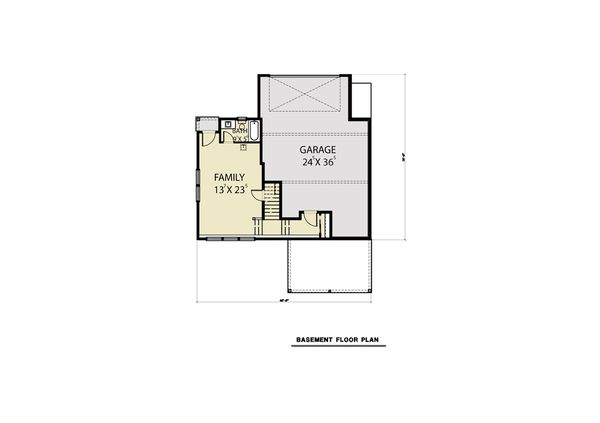 Contemporary Floor Plan - Lower Floor Plan Plan #1070-62