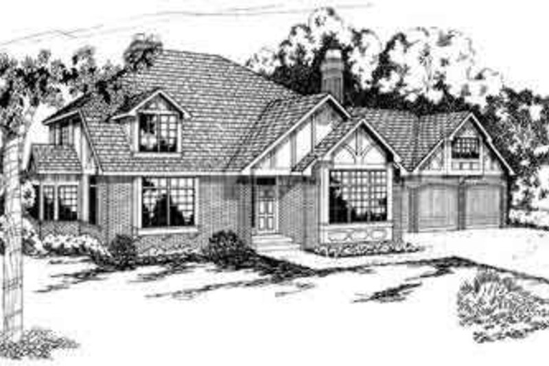 European Exterior - Front Elevation Plan #124-144