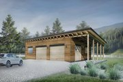 Contemporary Style House Plan - 0 Beds 0 Baths 724 Sq/Ft Plan #924-8 Exterior - Front Elevation