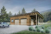 House Plan Design - Contemporary Exterior - Front Elevation Plan #924-8