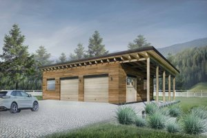 Contemporary Exterior - Front Elevation Plan #924-8