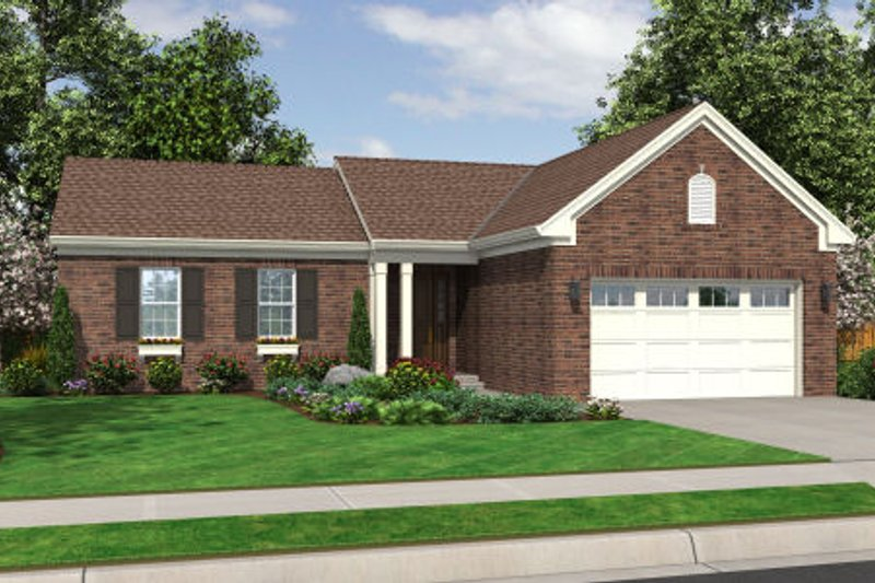 Traditional Exterior - Front Elevation Plan #46-468