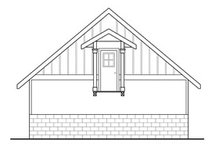 Home Plan - Traditional Exterior - Rear Elevation Plan #124-639