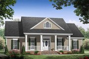 Southern Style House Plan - 3 Beds 2.5 Baths 1903 Sq/Ft Plan #21-255 Exterior - Front Elevation