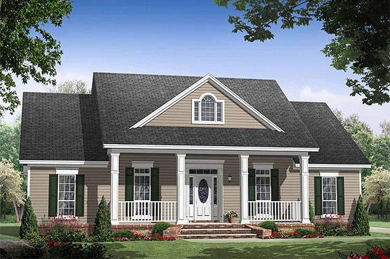 Southern Style House Plan - 3 Beds 2.5 Baths 1903 Sq/Ft Plan #21-255