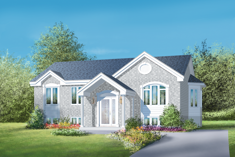 Classical Style House Plan - 3 Beds 1 Baths 1193 Sq/Ft Plan #25-4851 Exterior - Front Elevation