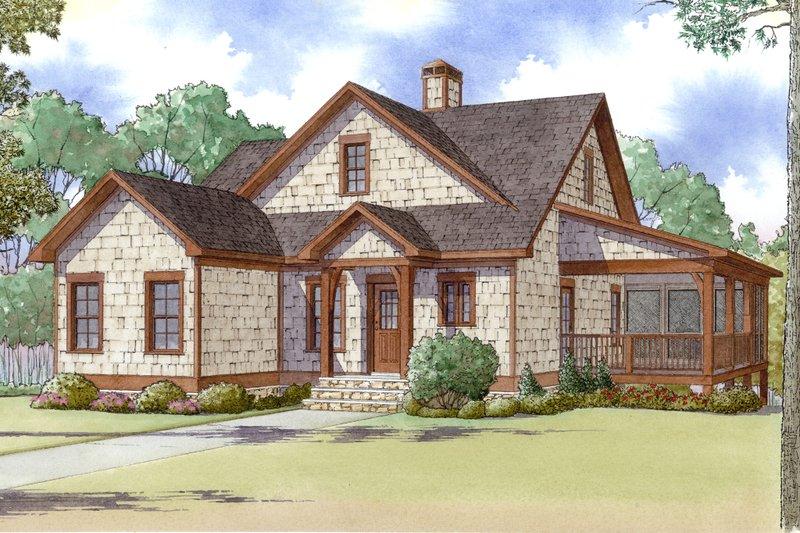 Craftsman Exterior - Front Elevation Plan #923-13