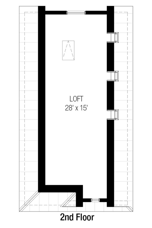 Cottage Floor Plan - Upper Floor Plan #915-15