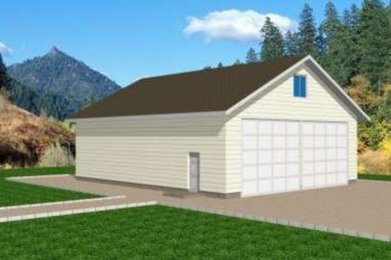 Traditional Exterior - Front Elevation Plan #117-367 - Houseplans.com
