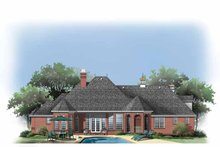European Exterior - Rear Elevation Plan #929-877
