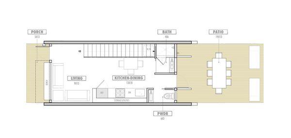 Modern Floor Plan - Main Floor Plan Plan #469-2