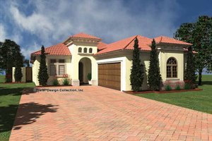 House Plan Design - Mediterranean Exterior - Front Elevation Plan #930-432