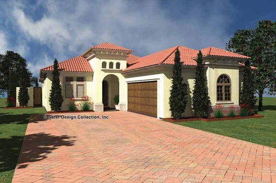 Mediterranean Exterior - Front Elevation Plan #930-432