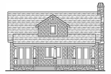 House Plan Design - Craftsman Exterior - Rear Elevation Plan #314-276