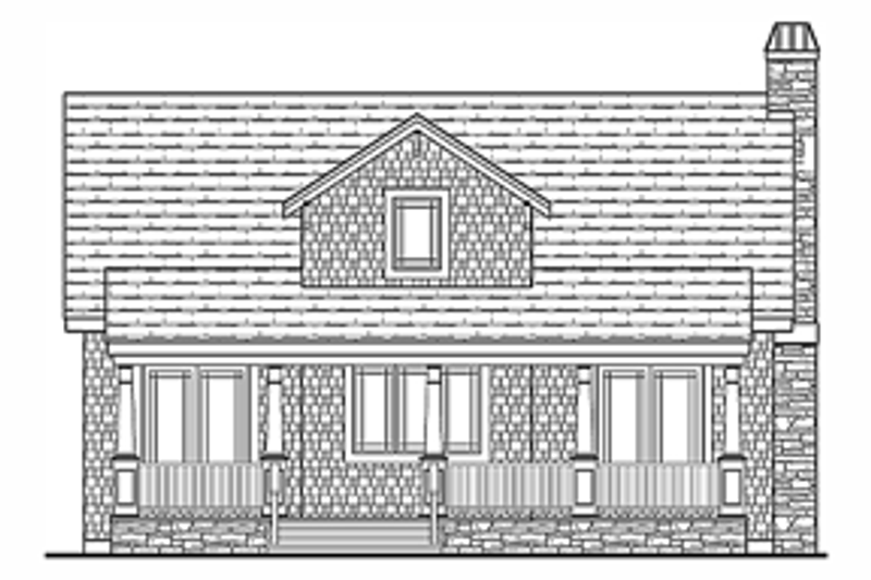 Craftsman Exterior - Rear Elevation Plan #314-276 - Houseplans.com