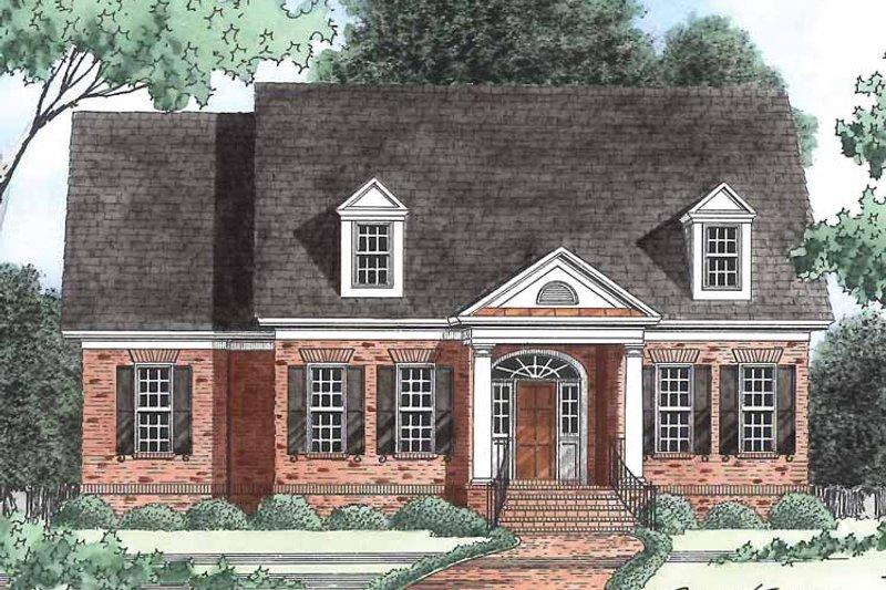 Classical Exterior - Front Elevation Plan #1054-7 - Houseplans.com