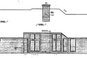 European Style House Plan - 3 Beds 2.5 Baths 2561 Sq/Ft Plan #310-260 Exterior - Rear Elevation