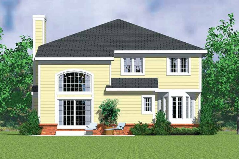 Country Exterior - Rear Elevation Plan #72-1128 - Houseplans.com