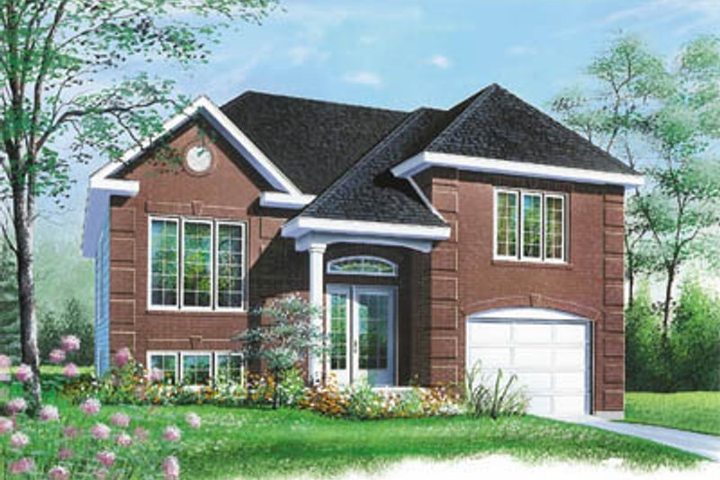 European Style House Plan - 2 Beds 1 Baths 1012 Sq/Ft Plan #23-145 Exterior - Front Elevation