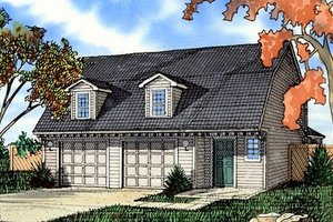 Colonial Exterior - Front Elevation Plan #405-154