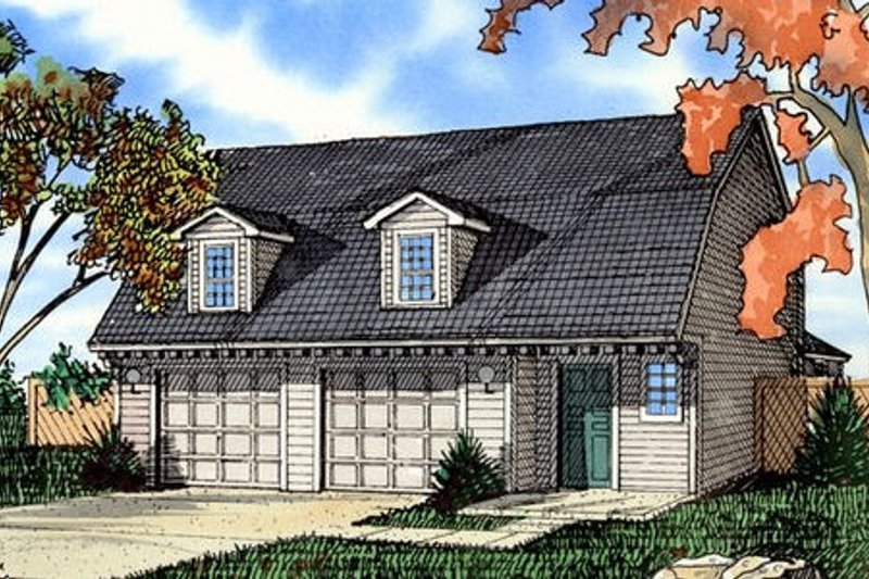 Colonial Exterior - Front Elevation Plan #405-154 - Houseplans.com