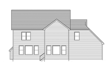 Colonial Exterior - Rear Elevation Plan #1010-57