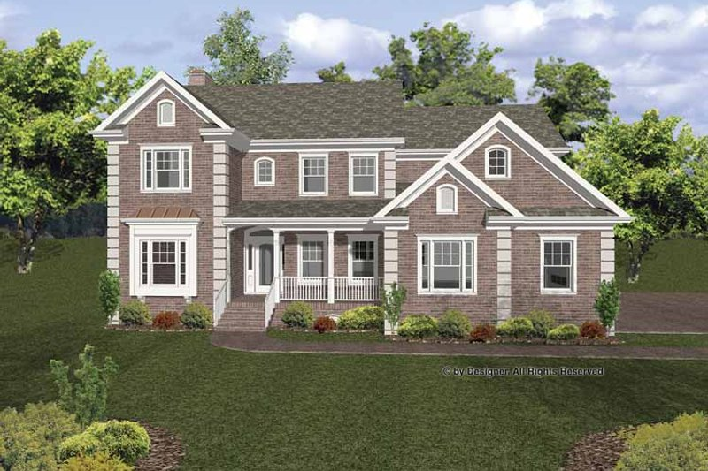 Architectural House Design - Traditional Exterior - Front Elevation Plan #56-670