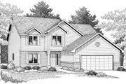 Traditional Style House Plan - 4 Beds 2.5 Baths 2098 Sq/Ft Plan #70-600 Exterior - Front Elevation