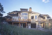 Craftsman Style House Plan - 5 Beds 6.5 Baths 5876 Sq/Ft Plan #942-16 Exterior - Rear Elevation