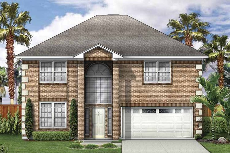 Traditional Exterior - Front Elevation Plan #84-765 - Houseplans.com