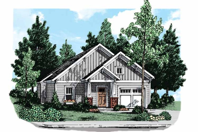 Craftsman Exterior - Front Elevation Plan #927-299