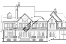 European Exterior - Rear Elevation Plan #927-966