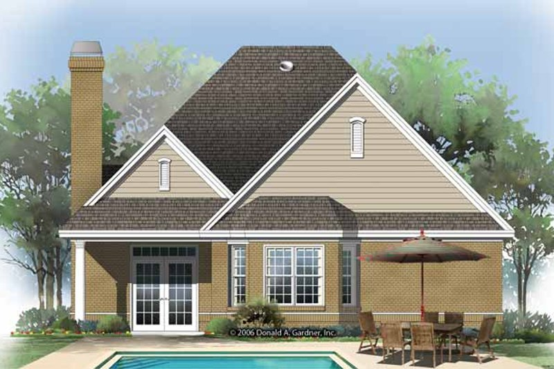 Ranch Exterior - Rear Elevation Plan #929-866 - Houseplans.com