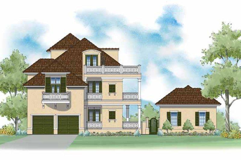 Southern Exterior - Rear Elevation Plan #930-402 - Houseplans.com