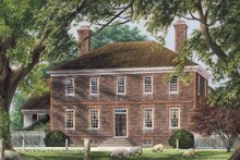 Dream House Plan - Colonial Exterior - Front Elevation Plan #137-347